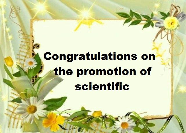 scientific promotion