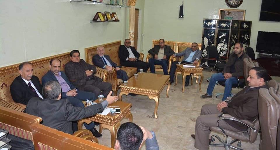 عميد كلية الطب يبحث سبل التعاون مع مدير عام صحة كربلاء