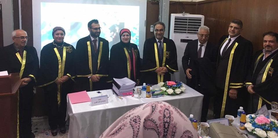 استاذ الكيمياء الحياتية والسريرية في كلية الطب جامعة كربلاء يشارك في مناقشة اطروحة دكتوراه في جامعة بغداد