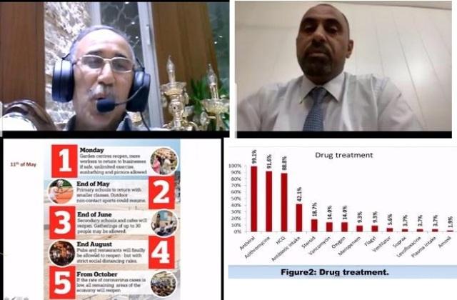 كلية الطب تعقد ندوة علمية الكترونية عن مرض كوفيد 19 بين التجربة العراقية والبريطانية