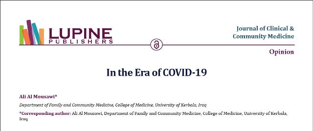 تدريسي من جامعة كربلاء- كلية الطب يكتب مقالاً حول جائحة كورونا (الجوانب النفسية والاجتماعية )