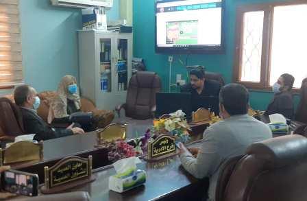 منصة  كلية الطب تطلق التعليم الالكتروني و التواصل الاجتماعي  الاول من نوعه في العراق