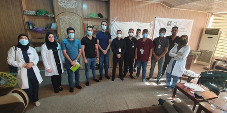 خريجي النظام التكاملي من كلية الطب جامعة كربلاء يواصلون تدريبهم خلال فترة الزيارة الاربعينية