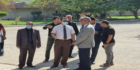 The President of Karbala University inspects reconstruction projects in preparation for the start of the 2021-2022 school year in the colleges complex of the staff district